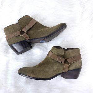 Sam Edelman Olive Green Phoenix Suede Boots 7.5